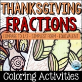 Thanksgiving Math Coloring Equivalent Fractions Activity