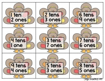 Place Value Game - Thanksgiving Edition