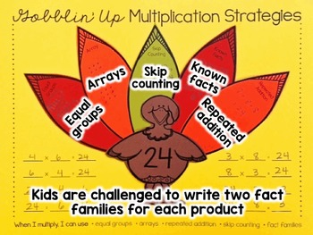 Thanksgiving Multiplication Craft for 3rd Grade