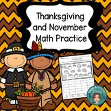 Thanksgiving Math for First Grade or Kindergarten - Center