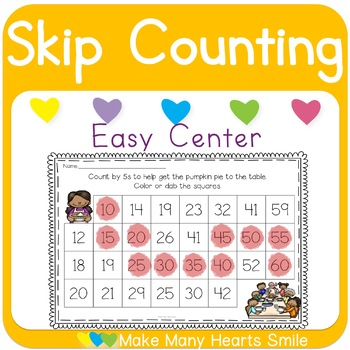 Skip Counting: Thanksgiving Dot a Path