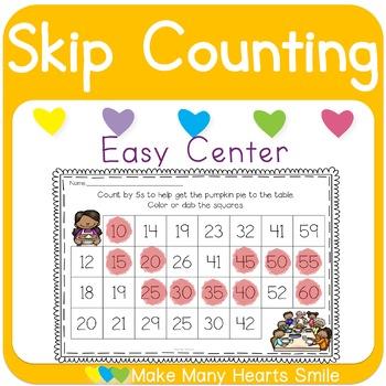 Skip Counting: Thanksgiving Dot a Path
