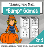 Thanksgiving Math 2nd Grade+ Bump Games Bundle