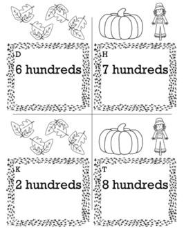 Thanksgiving Math 2nd Grade Scavenger Hunt Game Bundle