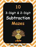 Thanksgiving Math: 3-Digit and 2-Digit Subtraction Maze