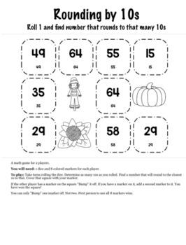 Thanksgiving Math 3rd Grade+ Bump Games Bundle