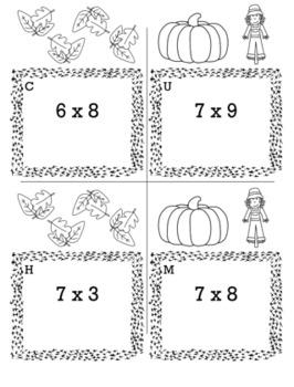 Thanksgiving Math 3rd Grade Scavenger Hunt Game Bundle