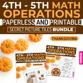 Thanksgiving Math | 4th-5th | Paperless + Printable Secret