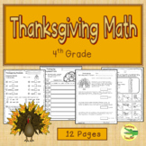 Thanksgiving Math  4th Grade