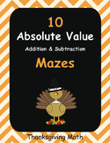 Thanksgiving Math: Absolute Value Maze - Addition & Subtraction
