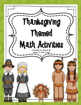 Thanksgiving Math Activites