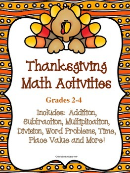 Thanksgiving Math Activities 2-4