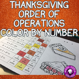 Thanksgiving Math Order of Operations Coloring Activity