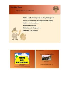 Thanksgiving Math Activities: Addition and Subtraction