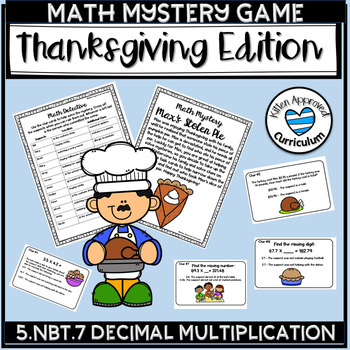 Thanksgiving Math Activities Math Mystery Decimals