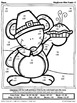 Thanksgiving Math Activities ~ Mayflower Mice ~ Color By T