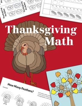 Thanksgiving Math Activities, Minibook ~ CC Aligned