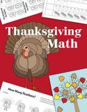 Thanksgiving Math Activities, Minibook ~ CC Aligned