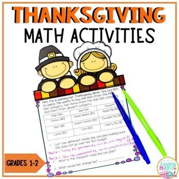Thanksgiving Math Activities Primary Grades