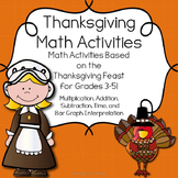 Thanksgiving Math Activities: The Thanksgiving Feast!