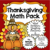 Thanksgiving Math: Thanksgiving Math Word Problems, Graphi