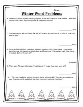 Christmas Math Word Problems Christmas Word Problems Christmas Math 2nd Math