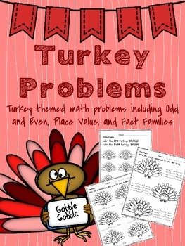 Thanksgiving Math Activities for Assessments or Centers