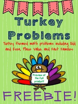 (free version) Thanksgiving Math Activities for Assessments or Centers