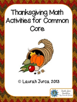 Thanksgiving Math Activities for Common Core