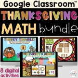 Thanksgiving Math Activities on Google Slides Place Value