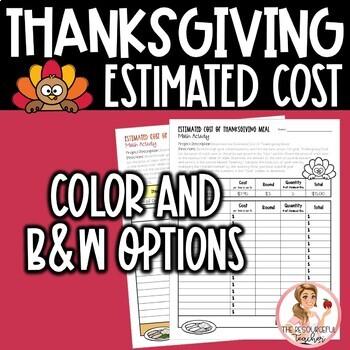 Thanksgiving Math Activity
