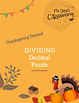 Thanksgiving Math Activity - Dividing Decimals Game!
