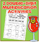 Thanksgiving Math Activity * Double Digit Multiplication 4