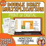 Thanksgiving Math Activity  Double Digit Multiplication Pr