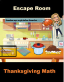 Thanksgiving Math Activity Escape the Room Google Distance