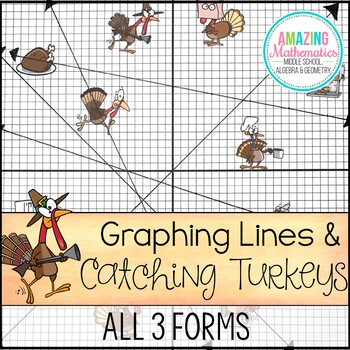 Thanksgiving Math Activity Graphing Lines and Turkeys ~ All 3 Forms