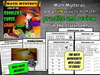 Thanksgiving Math Activity: Math Mystery {GRADE 7}