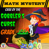 7th Grade Thanksgiving Activity - Thanksgiving Math Mystery Review Worksheets