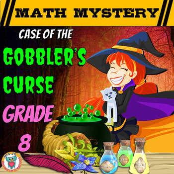 Thanksgiving Math Activity: Math Mystery {GRADE 8 Mixed Math Review}