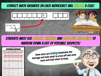 Fun Thanksgiving Activity: 8th Grade Thanksgiving Math Mystery