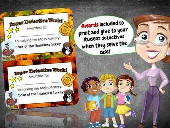 Thanksgiving Math Activity: Math Mystery {Thankless Turkey 3rd Grade}