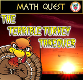 Thanksgiving Math  Activity: Math Game Quest - The Terrible Turkey Takeover