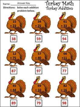 Thanksgiving Activities: Turkey Math Thanksgiving Math Activity Packet Bundle