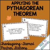 Thanksgiving Math Activity - Pythagorean Theorem