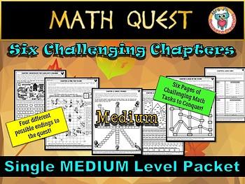 Thanksgiving Math Activity Quest: Terrible Turkey Takeover (MEDIUM LEVEL)