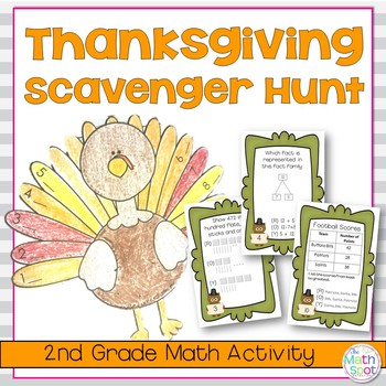 Thanksgiving Math Activity For 2nd Grade By The Math Spot Tpt