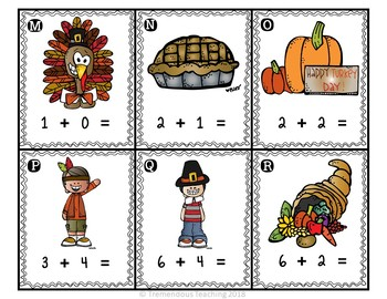 Thanksgiving Math - Add the Room Activity