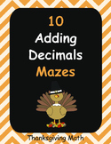 Thanksgiving Math: Adding Decimals Maze