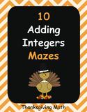Thanksgiving Math: Adding Integers Maze