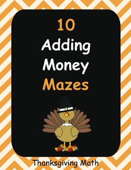 Thanksgiving Math: Adding Money Maze